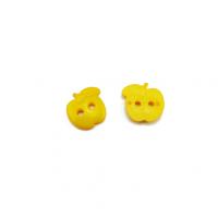 Пуговица пластиковая Яблоко желтое
