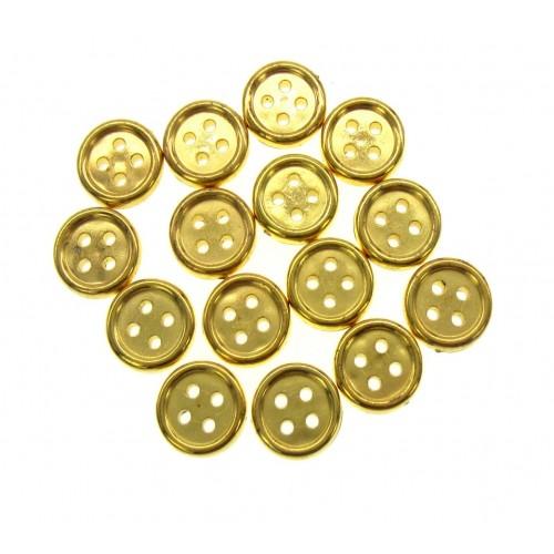 Пуговица пластиковая Золото, 13 мм