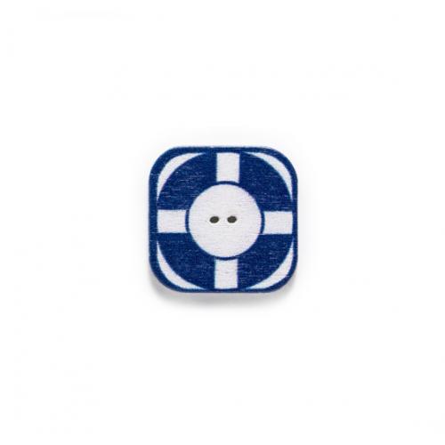 Пуговица деревянная спасательный круг, фото