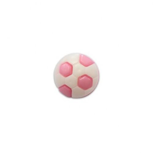 Пуговица Футбольный мяч розовый, 10 мм