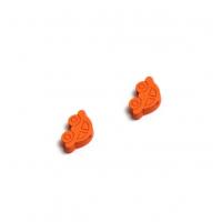 Пуговица деревянная Машинка Оранжевая