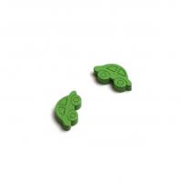 Пуговица деревянная Машинка Зеленая