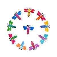 Пуговицы декоративные Стрекозы, 10 шт ассорти