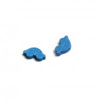 Пуговица деревянная Машинка Синяя
