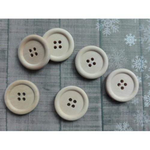 купить пуговицы деревянные 25 мм