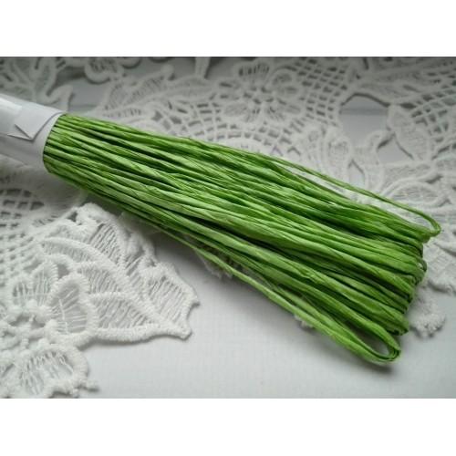 Рафия бумажная тонкая Зеленая фото