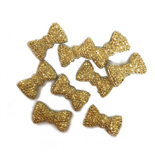 Кабошон Бантик золото, 20*10 мм