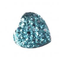 Серединка Сердце в пупырышки голубое