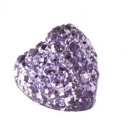 Серединка Сердце в пупырышки фиолетовое