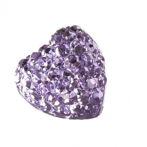 Серединка Сердце в пупырышки Фиолетовое фото