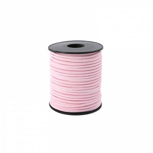 Шнурок замшевый светло-розовый, фото