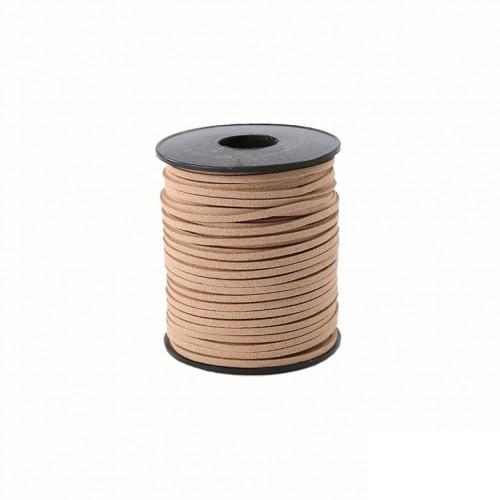 Шнурок замшевый светло-коричневый, фото