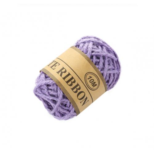 Канат из натуральной мешковины, фиолетовый, 10 м