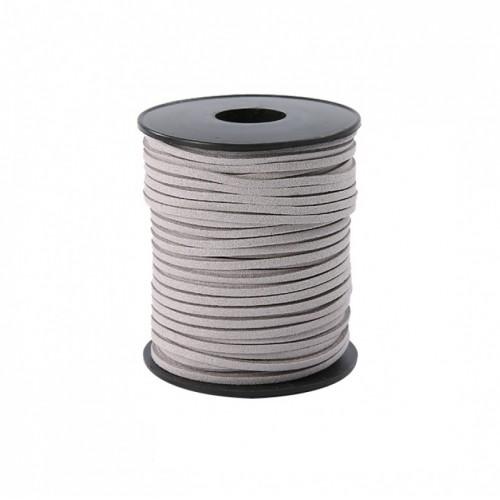 Шнурок замшевый серый, фото