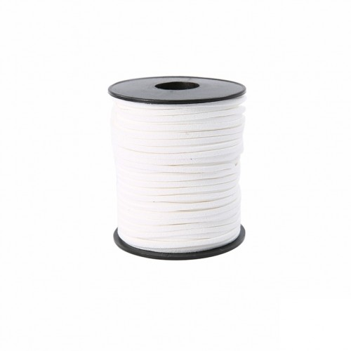 Шнурок замшевый белый, фото