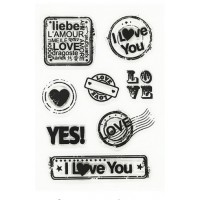 "Набор штампов ""I love you"", 11*16 см"