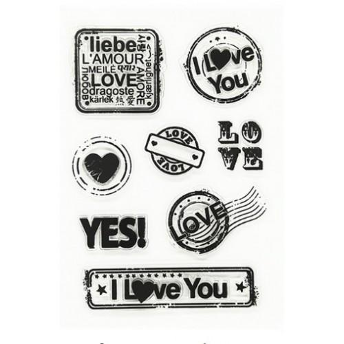 """Набор штампов """"I love you"""" фото"""