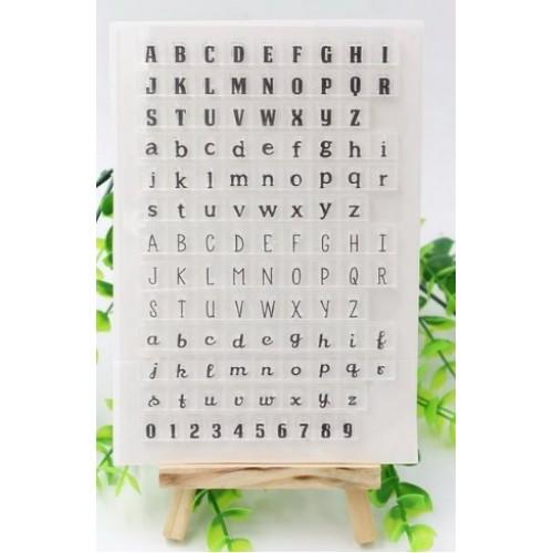 "Набор штампов ""Английский алфавит+цифры"" фото"