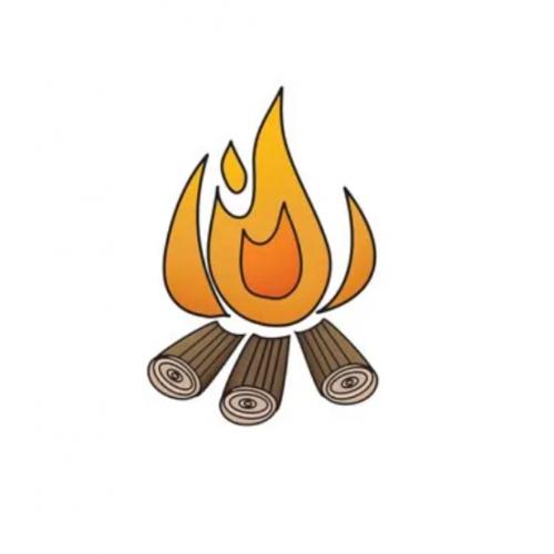 Штамп акриловый Outdoor Adventure – Campfire, Imaginisce, 400174
