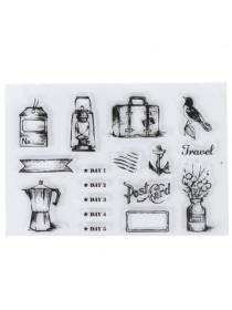 """Набор штампов """"Travel"""" 16х11 см"""