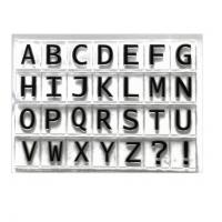 """Набор штампов """"Английский алфавит"""", 11*16 см"""