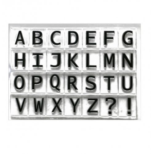 "Набор штампов ""Английский алфавит"" фото"
