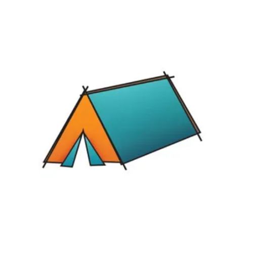 Штамп акриловый Outdoor Adventure – Tent, Imaginisce, 400173