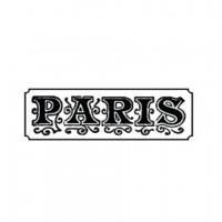 """Штамп """"PARIS"""" ТМ CHERRYLANA, 3,6*1,2 см"""