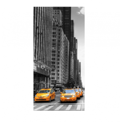 Плакат для фотозоны такси в Нью-Йорке, фото
