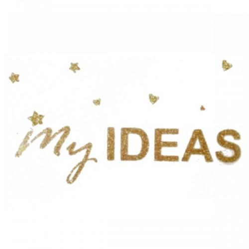"""Надпись из термотрансферной пленки """"My ideas"""""""