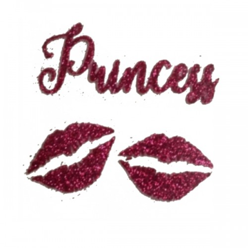 """Надпись из термотрансферной пленки """"Princess lips"""""""