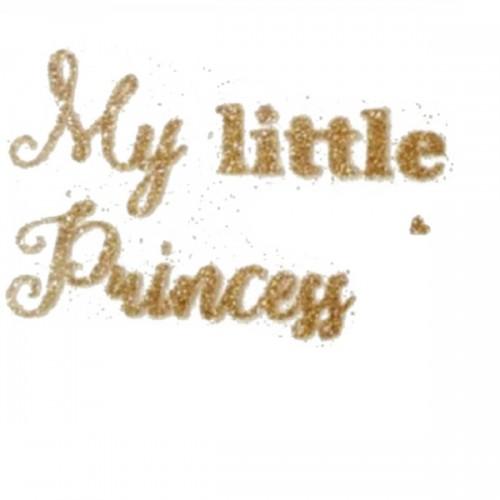 """Надпись из термотрансферной пленки """"My little princess"""""""