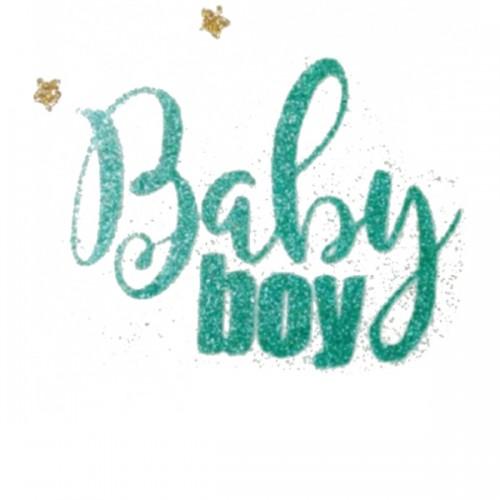 """Надпись из термотрансферной пленки """"Baby boy"""""""