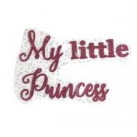 """Надпись из термотрансферной пленки """"My little princess"""", малиновый"""