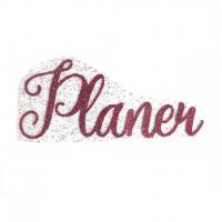 """Надпись из термотрансферной пленки """"Planer"""", малиновый"""