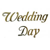 """Надпись из термотрансферной пленки """"Wedding Day"""""""