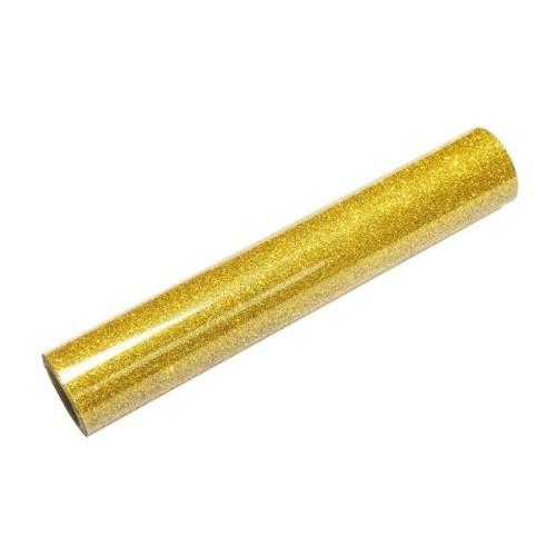 Термотрансферная пленка Золото с глиттером фото