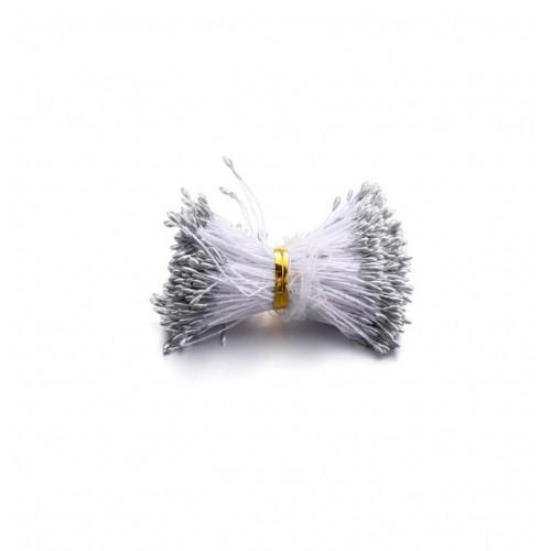 Перламутровые тычинки тонкие Серебро, 50 шт