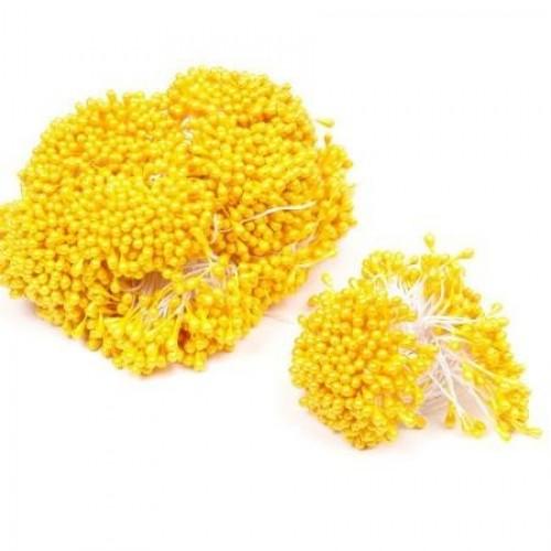 Перламутровые тычинки на нитке. Желтый. 50 нитей