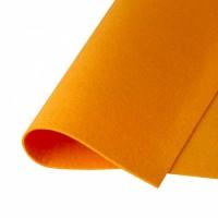 Фетр жесткий Светло-оранжевый, 21*30 см