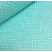 Ткань хлопок Горошек 4 мм на мятном фоне, 40*50 см