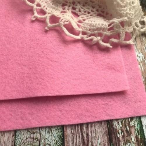 купить фетр жесткий Розовый SANTI