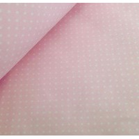 Ткань хлопок Горошек 4 мм на розовом фоне, 40*50 см