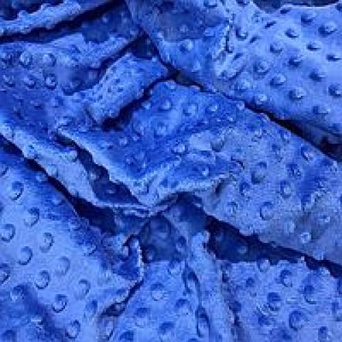 Плюш Minky синий фото