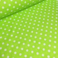 Ткань хлопок Горошек 10 мм на салатовом фоне, 40*50 см