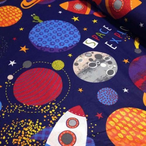 Ткань хлопок Космос фото