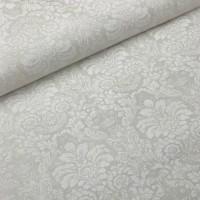 Ткань хлопок Дамаск белый, 50*50 см