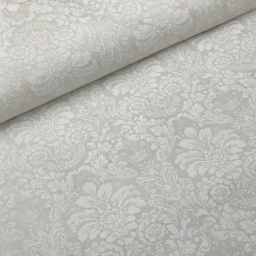Ткань хлопок Дамаск белый фото