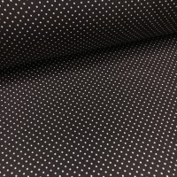 Ткань хлопок точка белая на темно-коричневом 2 мм, 40*50 см