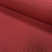 Ткань хлопок точка белая на красном 2 мм, 40*50 см